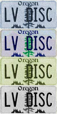 oregon laserdisc license plates